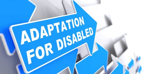 Adaptation for Disabled on Blue Arrow.