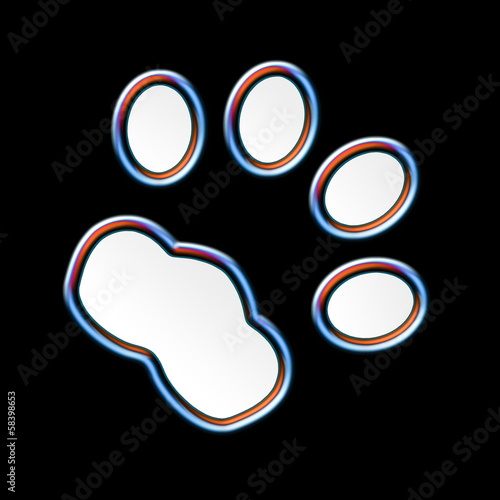 Cat print at night - Neon effect