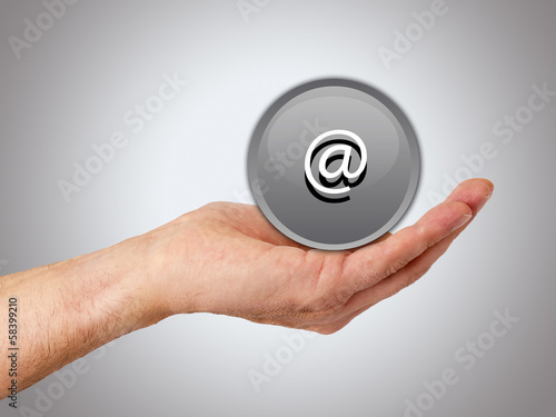 hands with buttons isolated