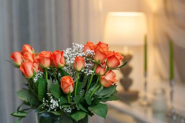Indoor interior with flowers