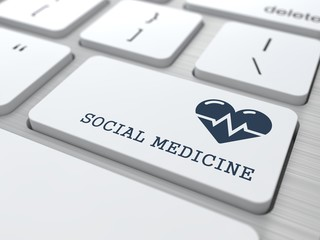 White Keyboard Social Medicine Button.