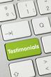 Testimonials. keyboard