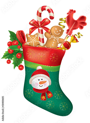Christmas stocking with sweets