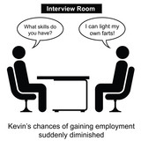 Kevin failed at yet another job interview