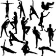 aerobics collection - vector 1