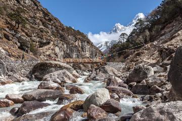 Trekking around Everest Foothills Nepal