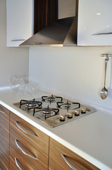 Modern kitchen and oven
