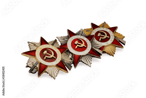 Three soviet medals of Second World War