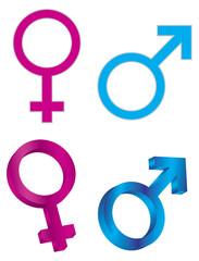 Male Female Gender Symbols Vector Illustration