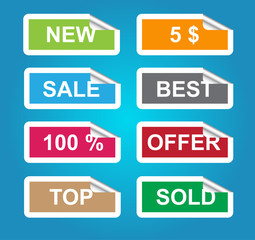 Set of sale labels