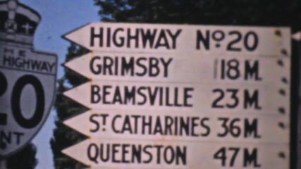 Old Ontario Highway Signs-1940 Vintage 8mm film