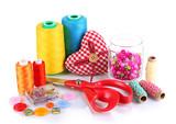 Handicraft supplies isolated on white