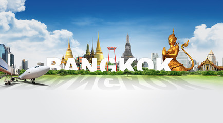 Travel in Bangkok, concept panorama landscape