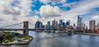 Leinwanddruck Bild - New York City in the glow of sunset