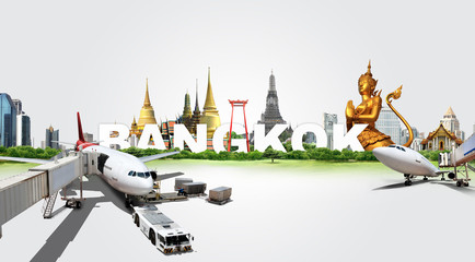 Travel in Bangkok, concept panorama landscape