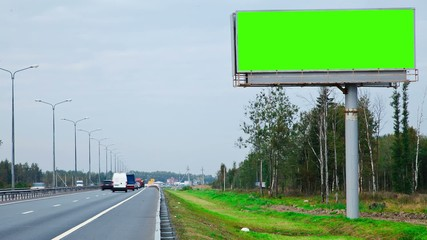 billboard with a green screen