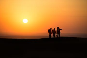 three hikers and chaoyang