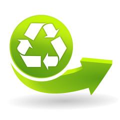 recyclage sur symbole vert