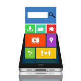 Modern mobile gadget with color interface