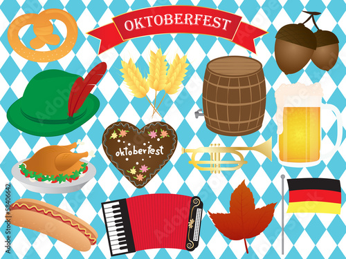 Oktoberfest Icons Vector Set