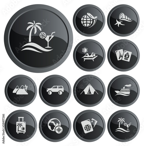 Vacations button set