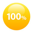Bouton internet 100% icon orange