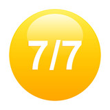 Butbouton internet seven by seven icon orange