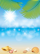 Summer holidays vector background