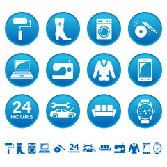 Service and repair icons