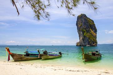 Longboat at poda island in Krabi,Thailand.