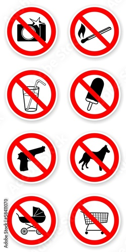 sticker of prohibited symbols