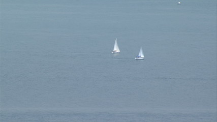 Two sailing boat in the Black Sea