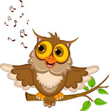 owl cartoon singing