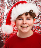 Christmas time - boy with Santa Claus Hat