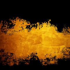 splash of golden paint