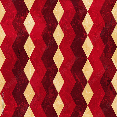 Red beige rhombus grunge background