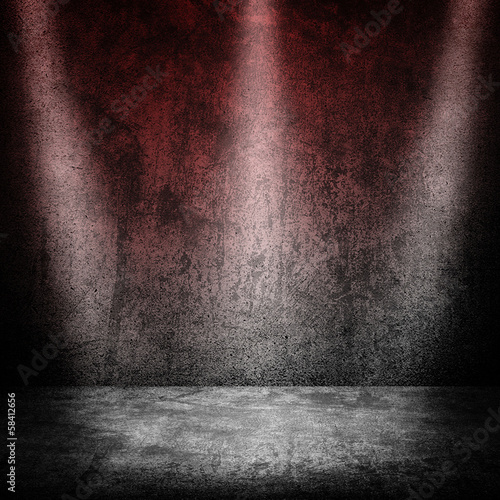 grunge space with spotlights