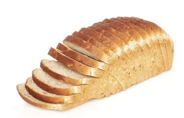 Sliced bread loaf