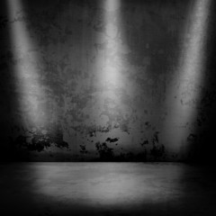 metal background with spotlights