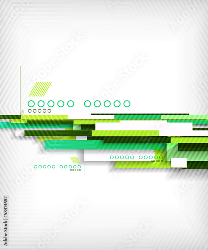 Abstract 3d straight lines geometric shape background