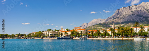 Panorama of Makarska city, Croatia