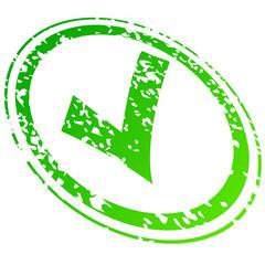 Check green stamp