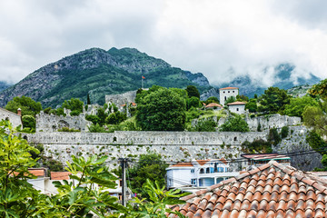 Panoramic view on town Bar, Montenegro