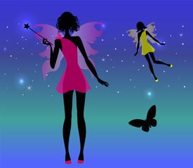 fatine sotto un cielo di stelle