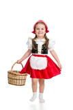 kid girl in carnival costume Red Hood