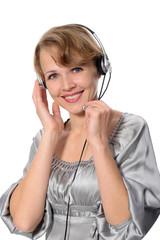 Woman customer service representative