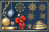 Vector set of Christmas items