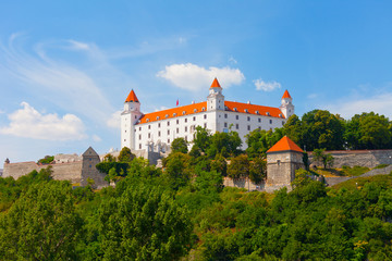 Medieval castle on the hill against the sky, Bratislava