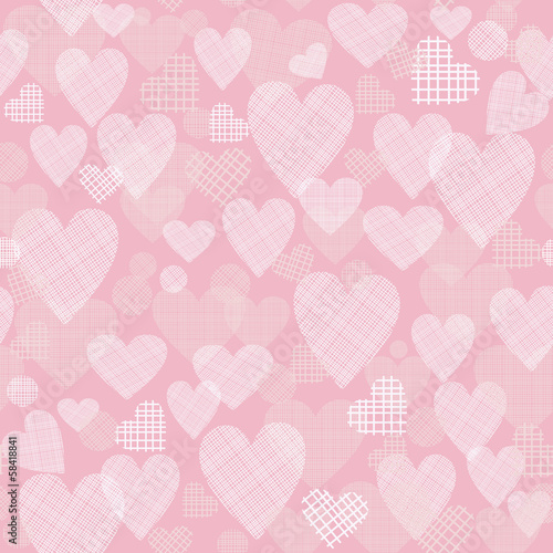 seamless pattern with hearts on pink background
