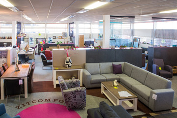 Showroom of modern furniture store